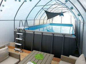 XXL Schwimmbad Überdachung Poolüberdachung Swimmingpooldach Teichüberdachung