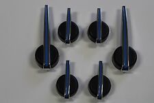 6 PIECE BLUE, BLACK & CHROME ESCALADE PREMIUM SPEEDOMETER GAUGE CLUSTER NEEDLES