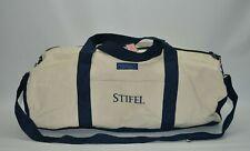 Vinyard Vines Large Canvas Khaki/Navy Blue Zip Duffel Bag Travel Bag
