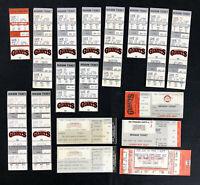 (17) San Francisco Giants Ticket Stub 1983 thru 1994