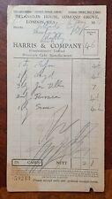 1939 Harris & Company, Confectioner & Cake Maker, Lomond Grove, London Invoice