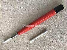 "New 5"" Jewelers Nylon Fiberglass Scratch Brush Pen Type w /  One Extra Refill"