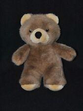 Peluche doudou ours brun marron IKEA Nojsig beige yeux brodés 26 cm TTBE
