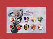 Dolly Parton Matted Picture Guitar Pick Set Nine to Five Jolene Blue Bayou