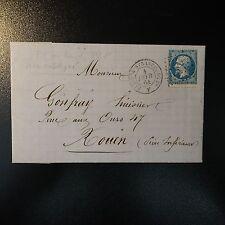 NAPOLÉON N°22 LETTRE COVER AMBULANT P1° AU LIEU DE PS1° (ERREUR?) NON CATALOGUÉ