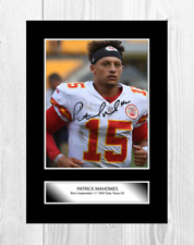 More details for patrick mahomes 2 nfl kansas city chiefs signed poster choice of frame