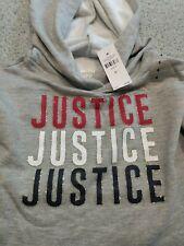 Justice Active Girls Gray Sweatshirt NWT Size 6
