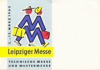 Leipziger Messe, Werbe-Flyer, Technische- u. Mustermesse , 3.-12. März 1963,