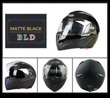 Matte BLK Full Open Face Modular Flip Up Dual Visor DOT Motorcycle Street Helmet