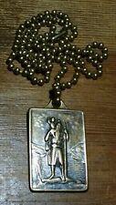 "Vintage Saint Christopher plaque, medal, pendant Protect Us 24"" Inches"