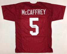 Christian McCaffrey firmado Stanford Cardinal Jersey (JAMES SPENCE  AUTHENTICATION certificado de autenticidad) Camiseta Carolina Panthers Nº 2363a0fbe