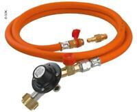 120cm Gasschlauch Druckminderer 50mbar für Gasgrill Regler Gasregler Druckregler