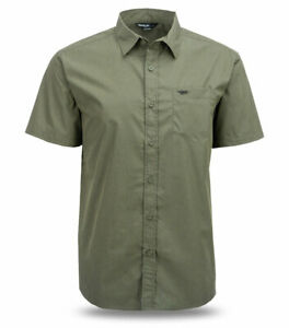 Fly Racing Button-Up Short Sleeve, Slim Fit Shirt (Green) S (Small)