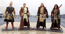 """Star Wars Episode 1 3.75"""" Qui Gon Jinn Obi Wan Kenobi Adi Gallia & Ki-Adi-Mundi"""