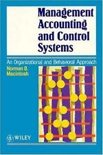 Management Accounting and Control Systems: An Organizational and Behavioral