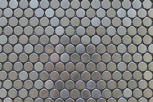 Stainless Steel Penny Round Mosaic Tiles for Kitchen Backsplash/Accent Walls