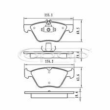 Bremsbelagsatz, Scheibenbremse, Vorderachse für Chrysler, Mercedes, BB08080