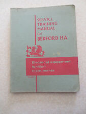 1960s Bedford van HAV electrical equip & ignition & instruments training manual