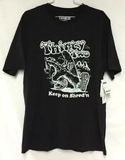 Thirty Two Men's Strollin Short Sleeve Graphic Tee Shirt Black White Large NEW