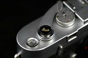 Shutter Button Release Metal Concave Leica Letters typ240 M-P M7 M8 M9 M10 black