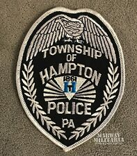 Early, TOWNSHIP OF HAMPTON Pennsylvania Police Patch (22267)
