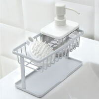1x Bathroom Kitchen Storage Rack Sponge Soap Sink Tidy Holder Strainer Organizer