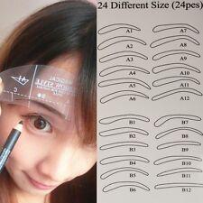 Schablonen 24er SET Augenbrauen Hilfe Eye Brow Shaping Makeup Kosmetik Kit