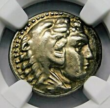 NGC Ch XF 4/5-4/5 Alexander the Great Stunning Lifetime Drachm Greek Silver Coin