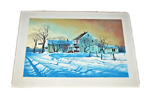 ROBERT ADDISON Signed Serigraph COUNTRY STORE 1977 Chicago LISTED ARTIST Art