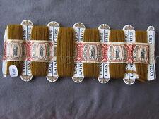 R367 Mercerie ancienne carte fil 6 bobines LAINE SAINT PIERRE marr +  bande LYON