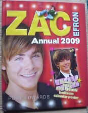 ZAC EFRON ANNUAL 2009 - HARDCOVER BOOK + POSTER