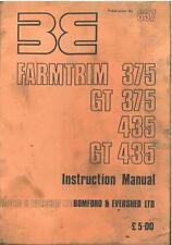 Bomford Hedgecutter Farmtrim 375, GT375, 435, GT435 Operators Manual