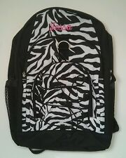 Pottery Barn PB Teen Black White Zebra Gear Up Large Backpack name TESSA New!