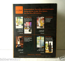Skybar® Huge Wine Connoisseur Gift Set Chill Drops Glow & Cool Covers Travelers