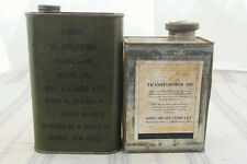 Vtg. American Oil & Supply Co. U.S Army, Quart Oil Can + Ohio Brass Co. Oil Can