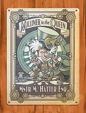 "Tin Sign ""Mad Hatter""  Disney Alice In Wonderland Art Painting Movie Poster"