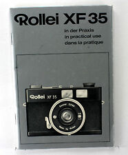 Original Rolleiflex Rollei XF 35 Manual, in German, English, French, 44 pages