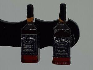 JACK DANIELS stud earrings JD earrings quirky/retro  ALCOHOL earrings bartender