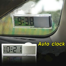 Digital LCD Adsorption Small Clock Dashboard Auto Car Clock Button Battery