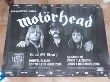 MOTORHEAD - KISS OF DEATH 2006 !!!Affiche promo / French promo poster !!!!!!!!!