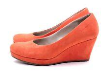 TAMARIS Pumps Wedges Gr. 38 UK 5 Orange Echt Leder Damen Schuhe Keilabsatz