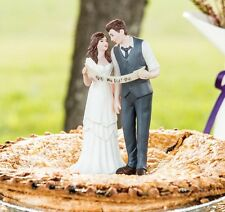 Fashion Wedding Cake Toppers Bride and Groom Make a Pledge Cake Topper Top 2015