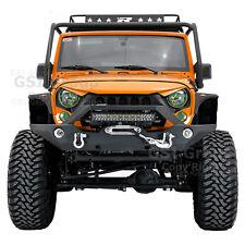 "Front Bumper+Fog Light Hol+21~22"" Light Bar LED Mount for 07-18 Jeep JK Wrangler"