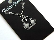 Christmas Necklace; Silver Merry Christmas Tree Fashion Jewelry Necklace