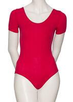 tous coloris femmes RAD coton manches courtes Ballet Dance LEOTARD kdc037 par