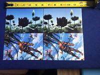 X4 Weatherlight POSTCARDS Magic The Gathering Duelist (Lotus Vale and Avizoa)