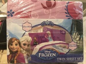 Disney Frozen Elsa Ana Twin Size Sheet Set 3-Pc NEW
