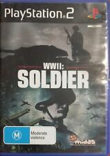 WWII Soldier Sony PlayStation 2 Console Game PAL Ps2