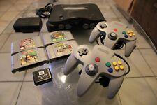 Nintendo 64 - N64 Konsole mit 2 Controller + 4 Spiele + Jumper Pak