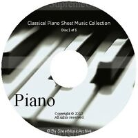 Massive Professional Piano Sheet Music Collection Archive Library on 5 DVD's